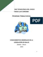 Conocimientos Generales de La Legislación en Salud