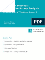 #TTMethods - Quant Survey Analysis