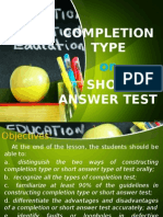 3   completion type of test felisilda