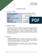 Produccion y Operaciones i (11001) Seccion 2