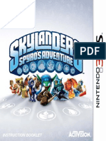 Skylanders - Spyros Adventure - Manual - 3DS