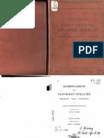 A. F. Stenzler. Elementarbuch der Sanskrit-sprache