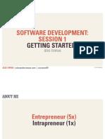 Software Development Class- Session 1