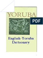 Yoruba English Dictionary