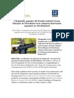 Chequeado, ganador del Premio Gabriel García Márquez de Periodismo en la categoría Innovación, expondrá en #PerDebate15