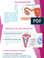 Anidación o Implantación