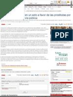 La Policía interviene en un acto a favor de las prostitutas por exhibicionismo en la vía pública. La Voz Digital