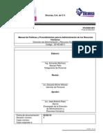 DICONSA - Manual de Políticas y Procedimientos Para La Administración de Los Recursos