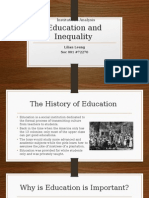 education and inequality project 2 institutions analysis