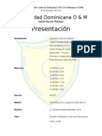 Análisis Comparativo Entre La Ordenanza 4-99 y La Ordenanza 4-2000