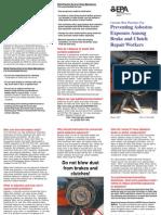 asbesto en frenos de vehículos