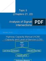 Topic 5 - Analysis Signalized Intersection