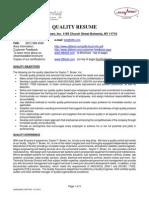 d Tb Quality Resume