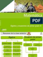 Clase 12 Álgebra y Ecuaciones de Primer Grado III