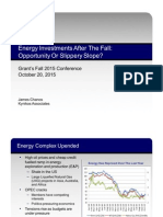 Energy Investments After The Fall