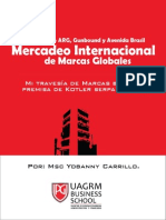 Libro - Mercadeo Internacional de Marcas Globales Por Msc Yobanny Carrillo
