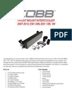 COBB Tuning 335i BMW FMIC Installation Instructions - 5-14-13