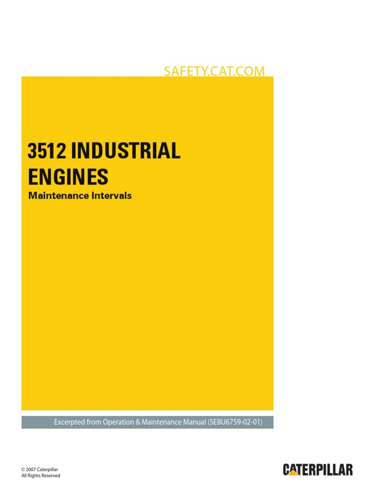 3512 Industrial Engine-Maintenance Intervals | Belt (Mechanical ...