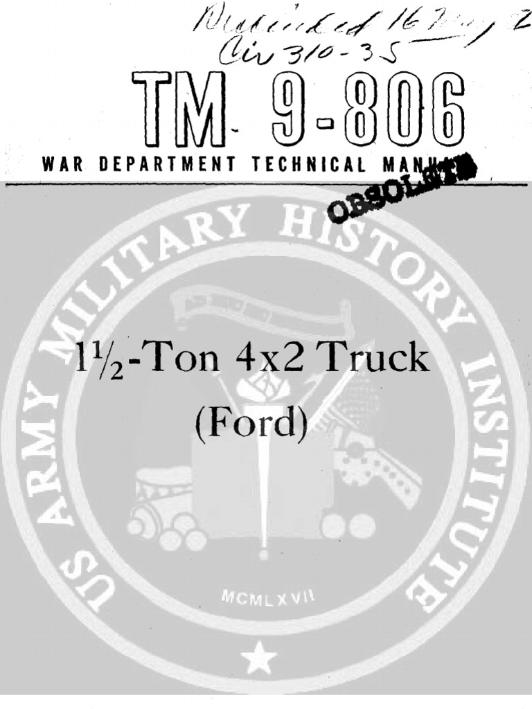 G8T 1944 US Army WWII Truck Ford 15 Ton 267p | Clutch