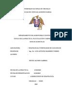 Informe de Edafologia Floculacion y Dispercion ALUMNO Reyes Jacobo Gabriel