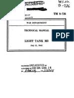 TM 9-726 ( Light Tank M3 )