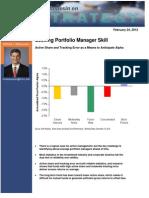 Michael Mauboussin - Seeking Portfolio Manager Skill 2-24-12