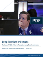 Long-Termism or Lemons