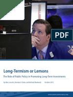Long-Termism or Lemons