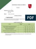 Avance Técnico financiero