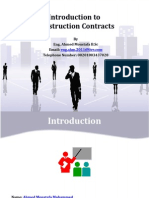 Introduction to Construction Contracts