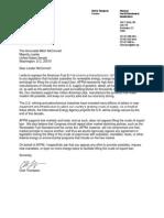 Afpm Letter