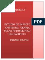 Estudio de Impacto Ambiental Granja Solar Fotovoltaica