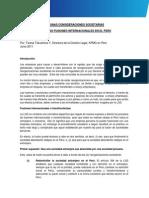 Algunas Consideraciones Societarias Sobre Las Fusiones Internacionales en El Peru Teresa Tokushima