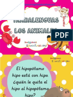 Trabajamos Con Trabalenguas de Animales Conciencia Lingüística