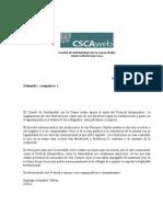 Carta de apoyo al Festival Interpueblos del Comité de Solidaridad con la Causa Arabe
