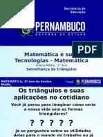 MMatemática 2º Ano Ι Médio-Semelhança de Triângulos