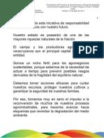 """15 04 2011 - Presentación del Programa de Garantías para el Desarrollo Sostenible de los Sectores Agropecuarios, Forestal, Pesquero y Rural """"FONAGA Verde"""""""