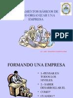 2.- Fundamentos Basicos de Organizar Una Empresa