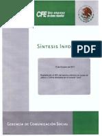 Sintesis Informativa CFE13 octubre 2011