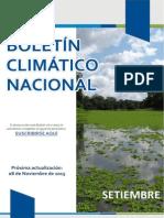 Boletin Climatico Nacional Setiembre 2015