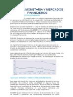 Informe Política Monetaria y Mercados Financieros