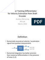 Nonlinear Tracking Differentiator for Velocity Estimation from Shaft Encoder