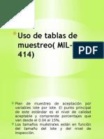Uso de Tablas de Muestreo MIL-STD 414