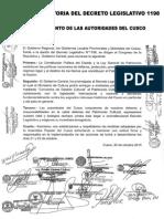 PRONUNCIAMIENTO AUTORIDADES  DEL CUSCO