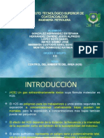 CONTROL DEL AMBIENTE DEL ÁREA (H2S)