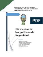 Elementos de La Politicas de Seguridad