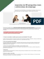 As Melhores Respostas Às 50 Perguntas Mais Frequentes Em Entrevistas de Emprego