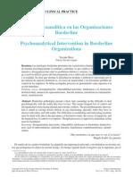 Clínica Psicoanálitica en Organizaciones Borderline
