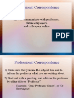professional correspondance