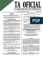Sumario Gaceta Oficial 39.389